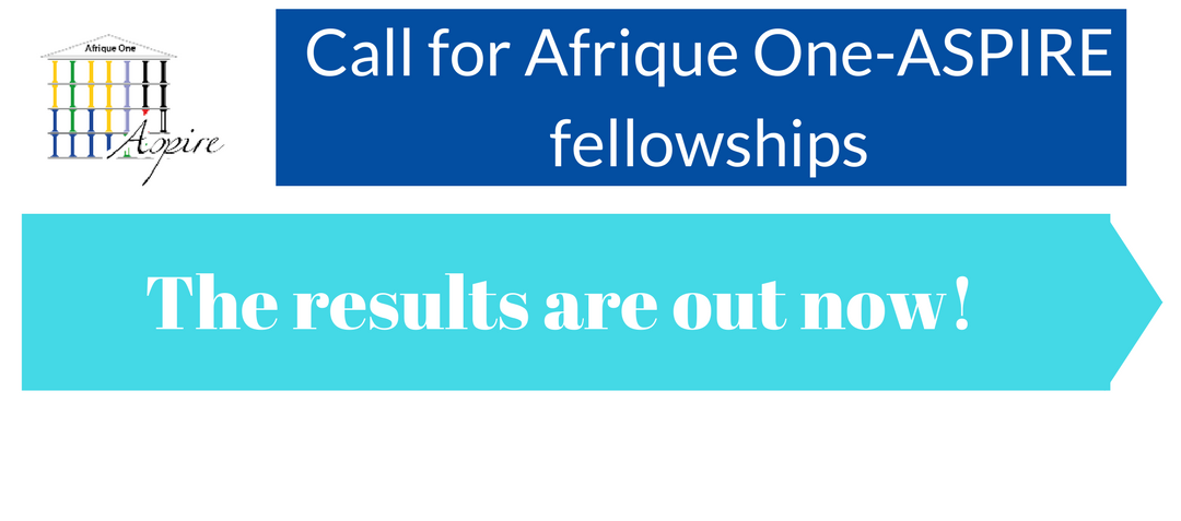 Call for Afrique One-ASPIREfellowships