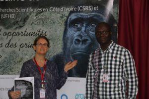 Dr Kathrin Heitz-Tokpa (Afrique One-ASPIRE Program manager) and Dr Karim Ouattara (Senior Monitoring Evaluation Assistant)