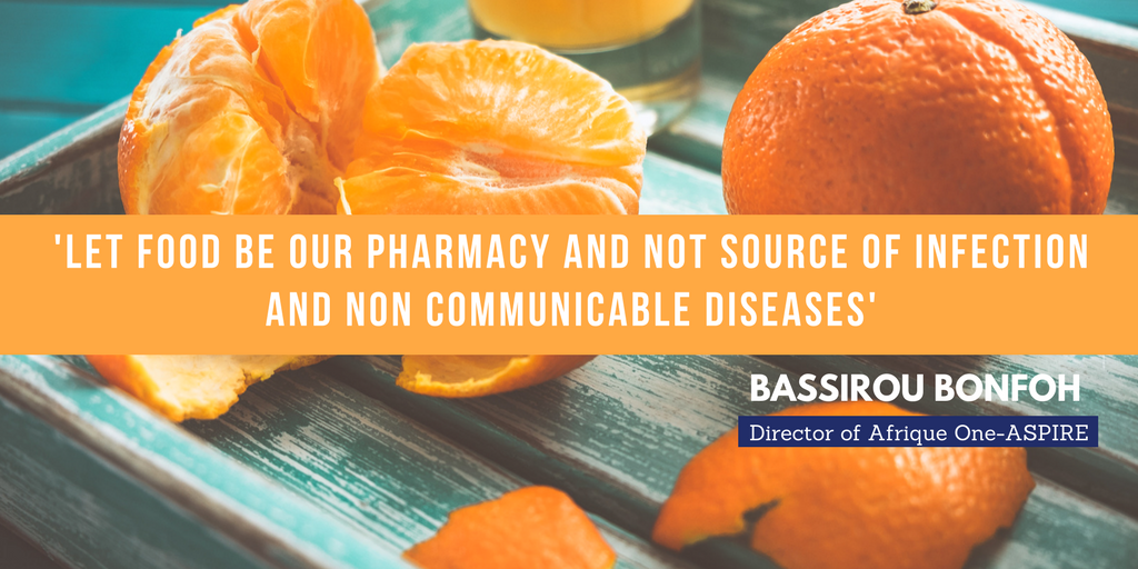 Let food be our pharmacy and not source of infection and Non communicable diseases